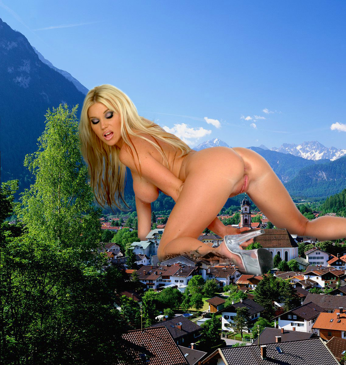 Giantess nude in the city adult images