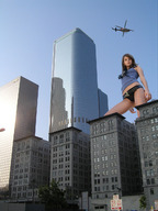 city giantess helicopter looking_at_viewer looking_down sky skyscrapers unknown_artist upward_angle // 958x1280 // 245.6KB