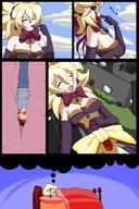 blonde clothed color comic drawing giantess internal small_man swallowed vore // 900x1350 // 140.7KB