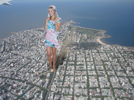 airplane_view blonde buildings city clothed collage destruction giantess looking_at_viewer ocean sandals unknown_artist // 1024x768 // 780.3KB